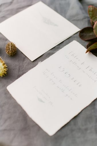 calligraphy style stationery