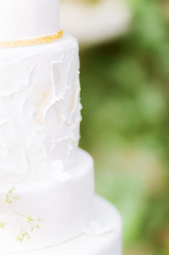 icing details of the wedding cake