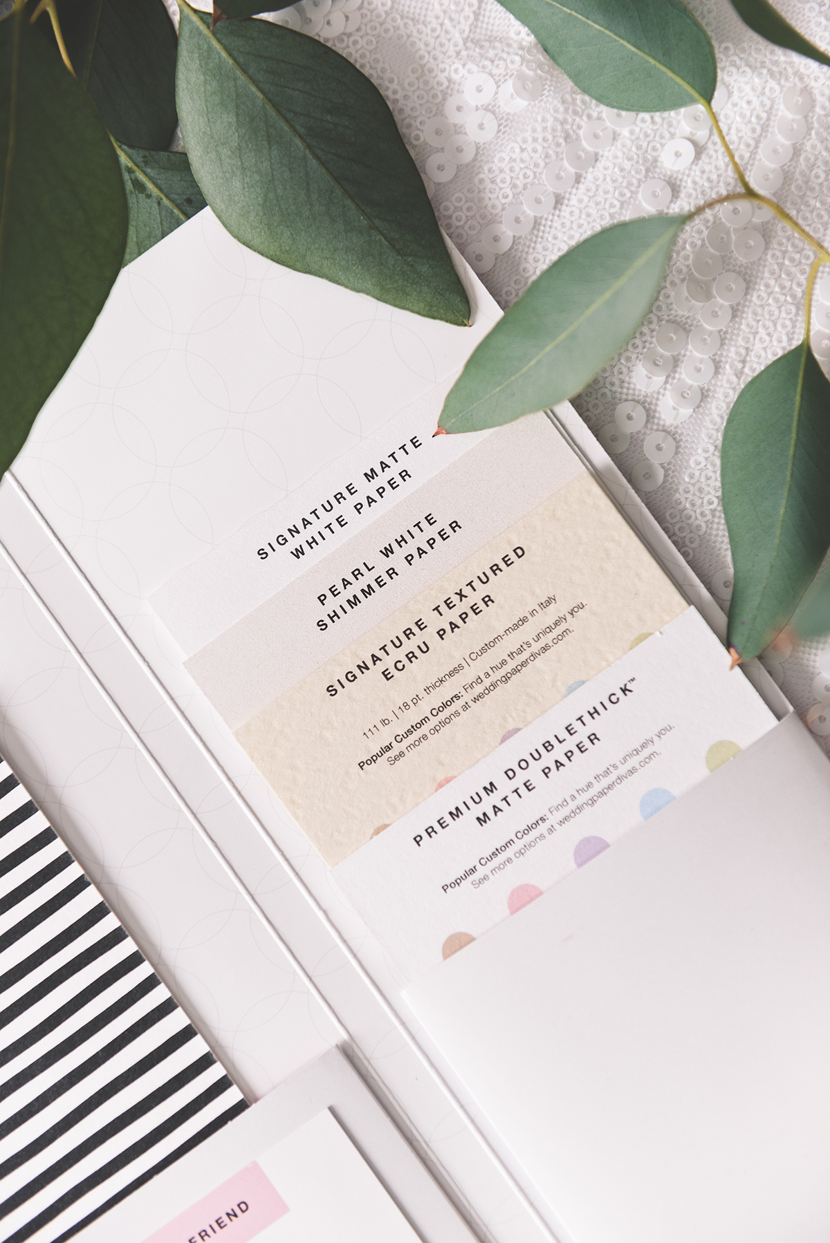 well first up for the contemporary wedding style we loved the ultra modern brushstrokes invitations in cashmere pink with gold foil
