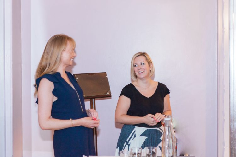 louise beukes and helen eriksen talking at the bloved workshop for brides