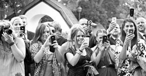 mobile phones at weddings