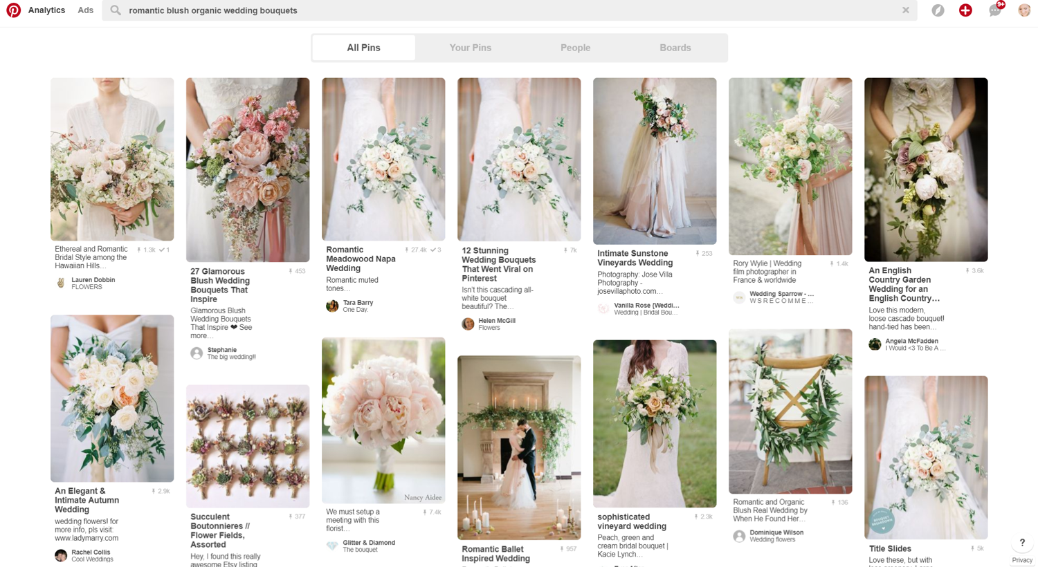pinterest wedding search