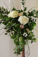floral details of the statement ceremony arch
