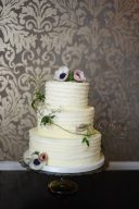 wedding cake decorated with oppies