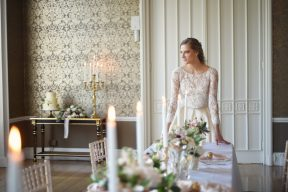 bride and reception room at nonsuch mansion