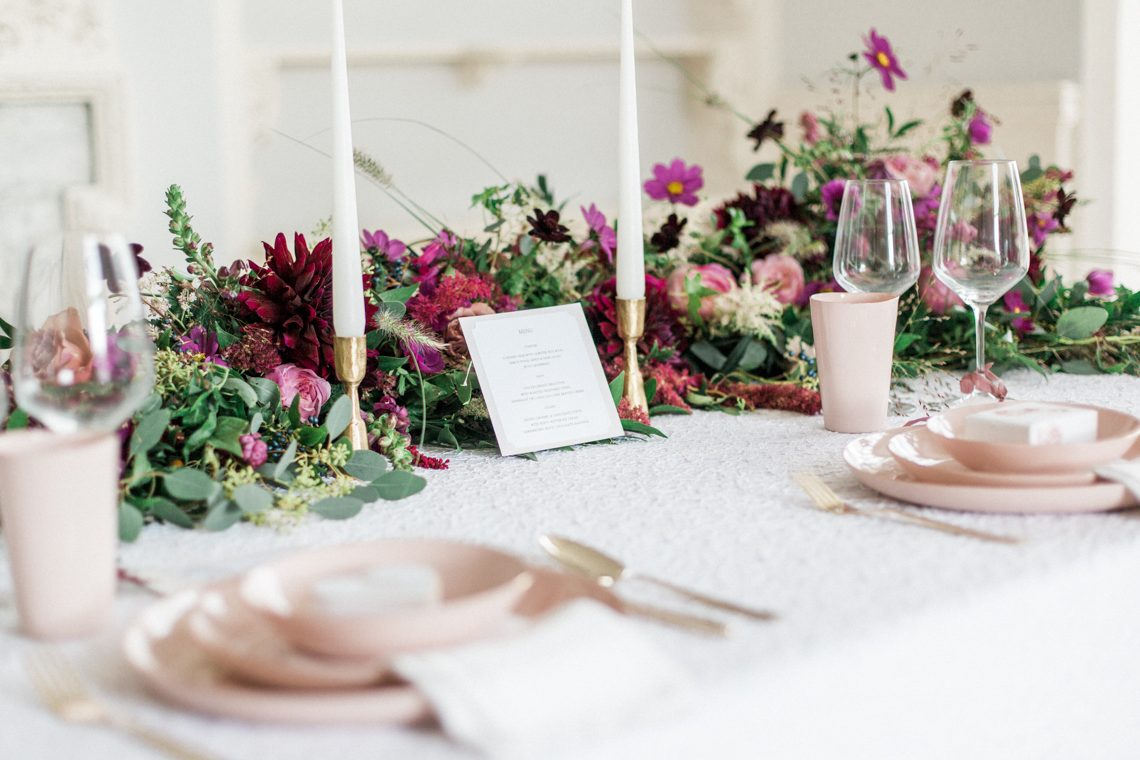 Luxe Pink Winter Wedding Inspiration with the Fine Art Wedding ...