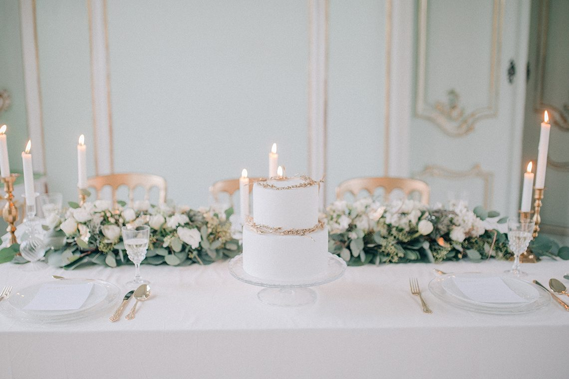 Gentility, A Fine Art Wedding with Blue, White + Gold - BLOVED Blog