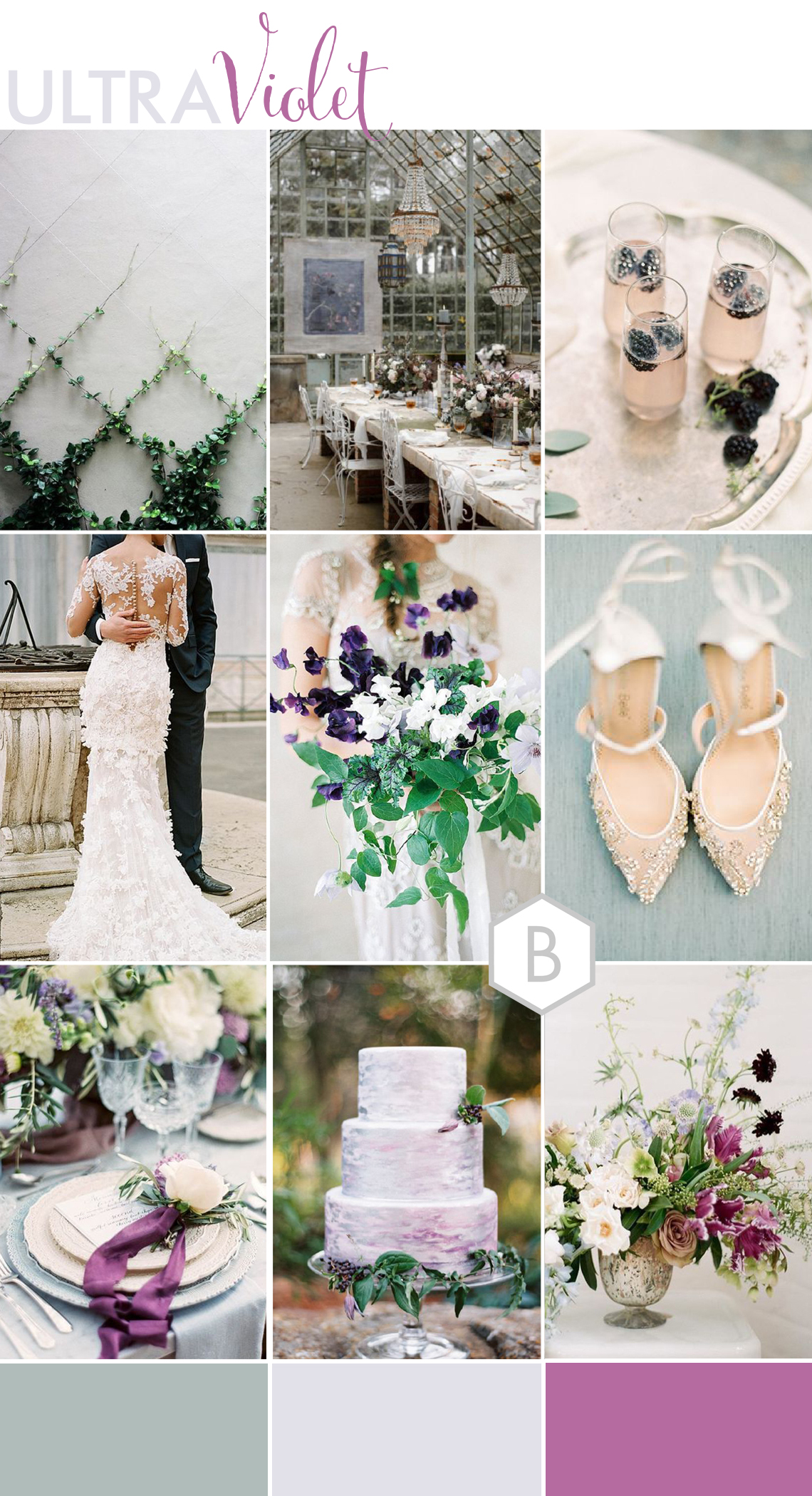 ultra violet wedding colour palette inspiration