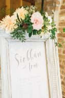 frame table plan decorated with real flowers