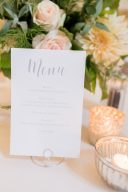 wedding stationery menue design