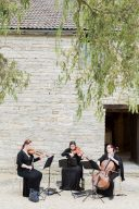 string quartete play at almonry barn
