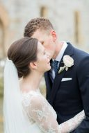elegant bride and groom portrait
