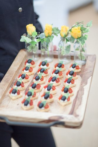 beautiful wedding canapes