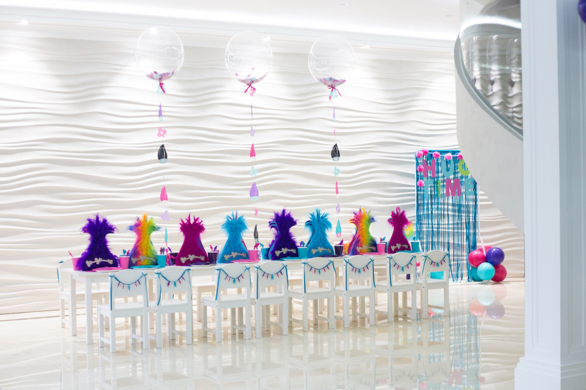 Bright Fun Filled Trolls Themed Birthday Party