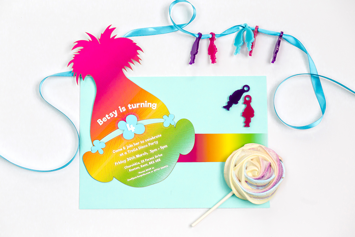 Bright Fun Filled Trolls Themed Birthday Party Bloved Blog