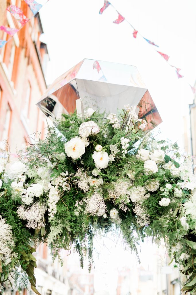 engagement ring floral installation at chelsea in bloom