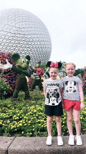 family fun and matching disney outfits for a day at epcot disney world