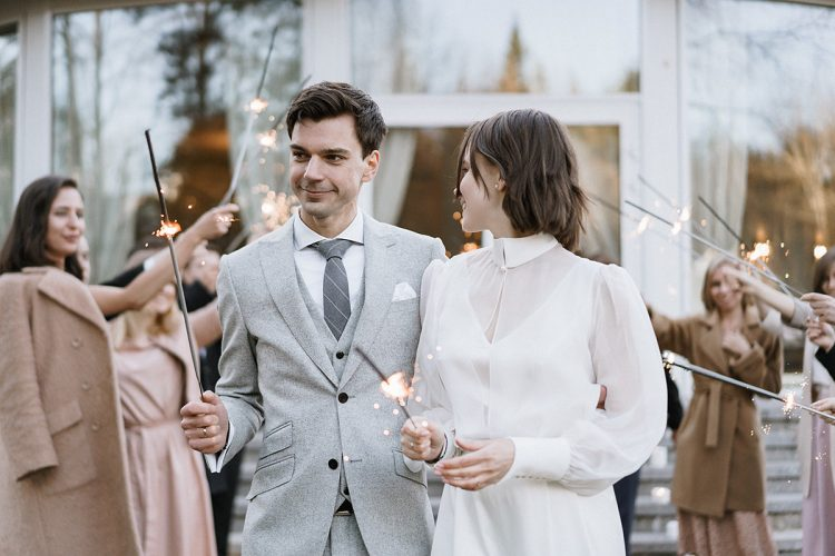 Anastasia + Tima's Refined Modern Country House Wedding