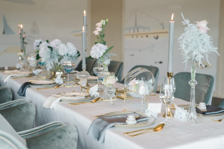 Cool Blue Meets Blush for this Modern Elegant Wedding