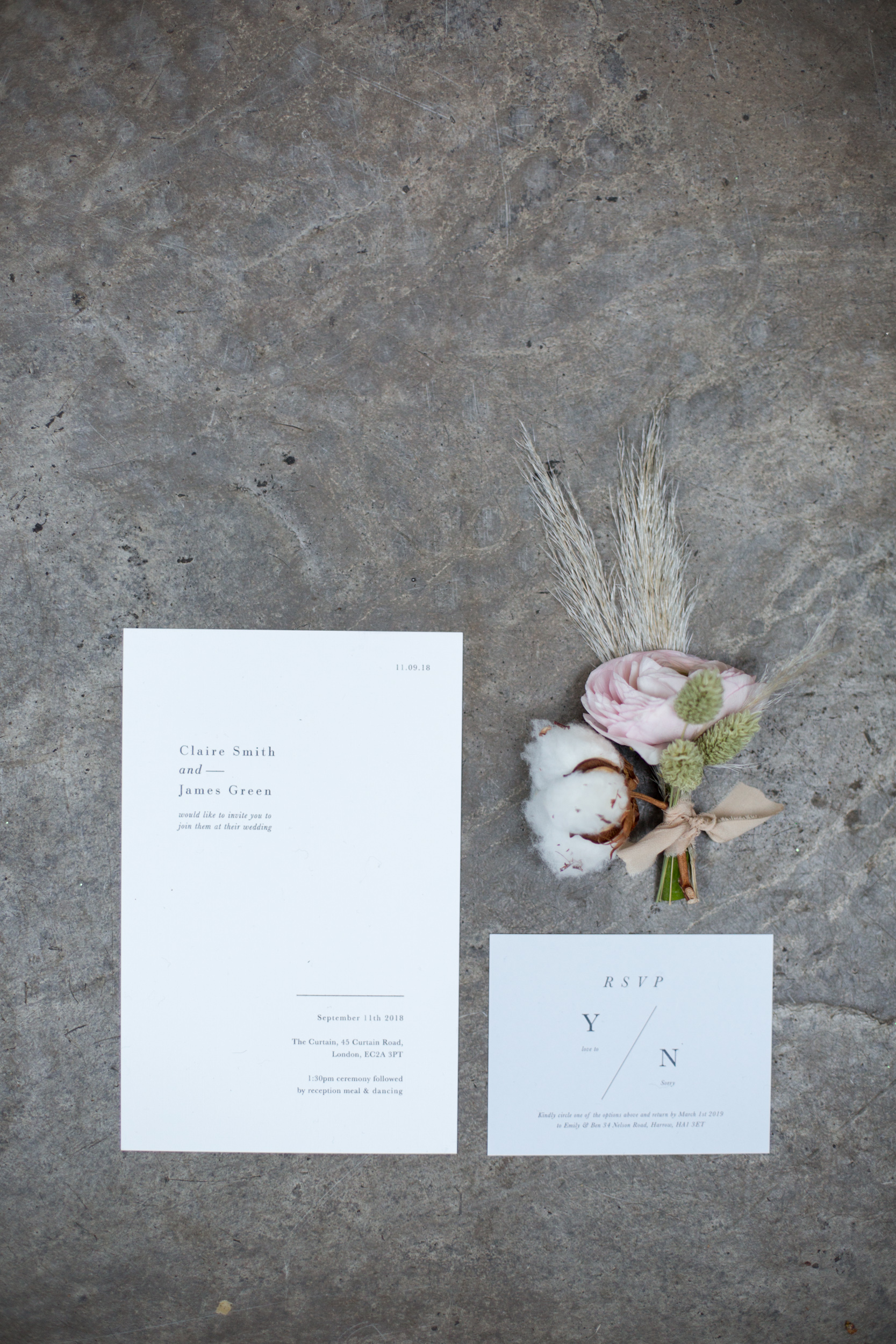 Modern Blue White Wedding Table Styling With An Industrial