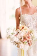 english garden rose wedding bouquet