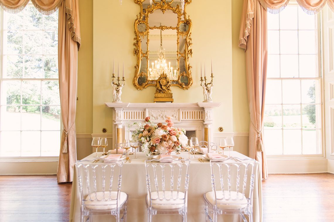 blush, mustard, gold wedding tablescape