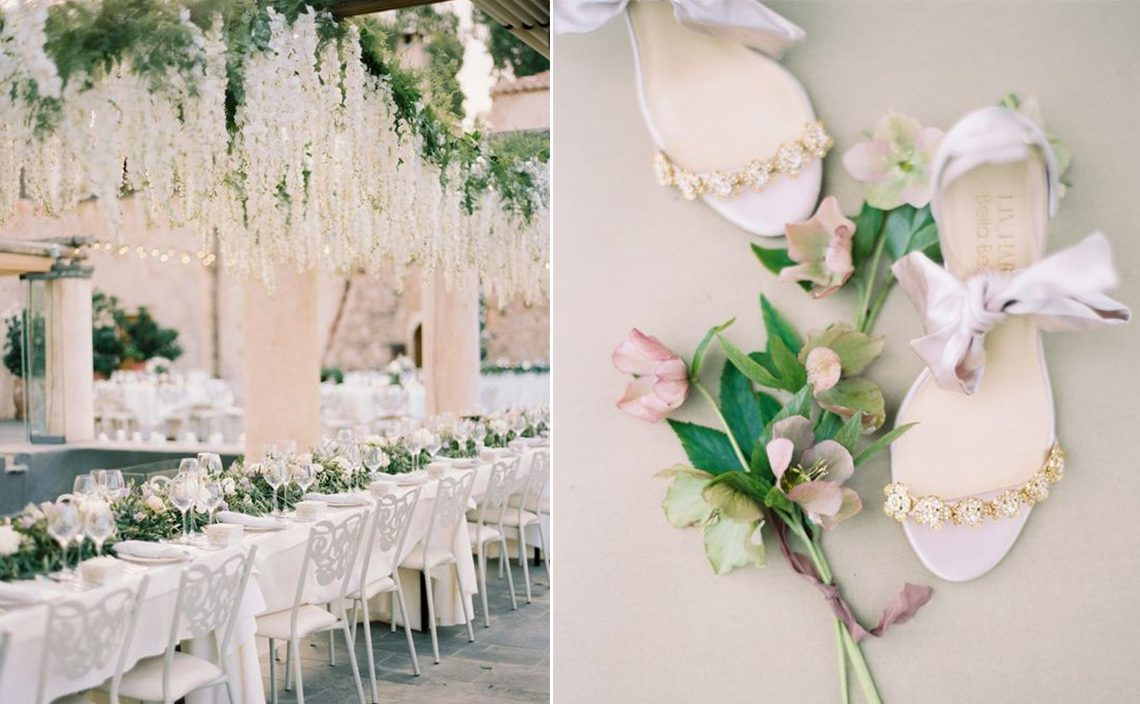 romantic pastel summer destination wedding ideas