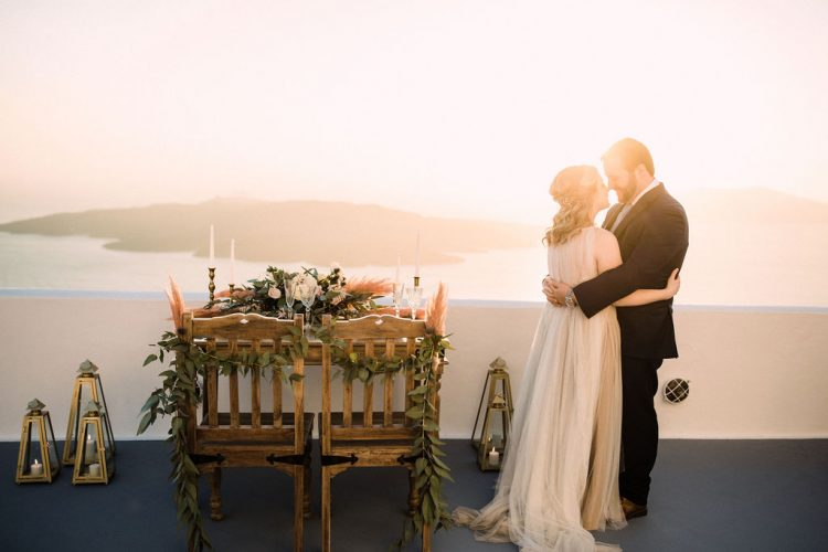 Brittnay and Jamie's Intimate Santorini Wedding