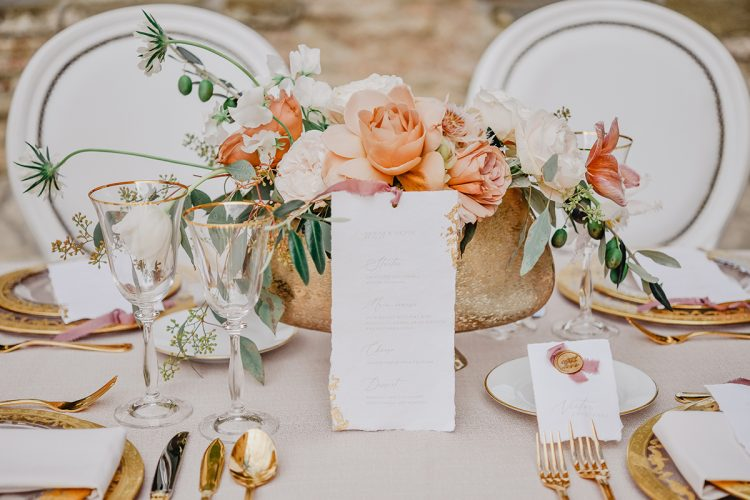 Timeless Tuscan Wedding in Pink and Peach with Magnificent Florals!