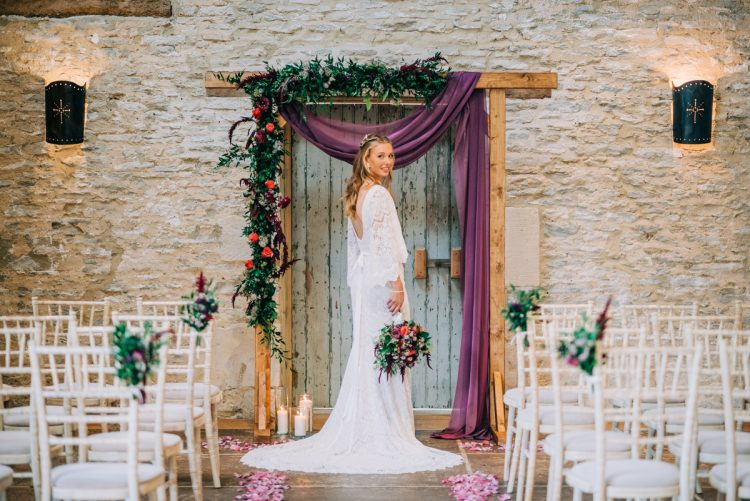 Magical Autumn Wedding at Oxleaze Barn in Gloucestershire