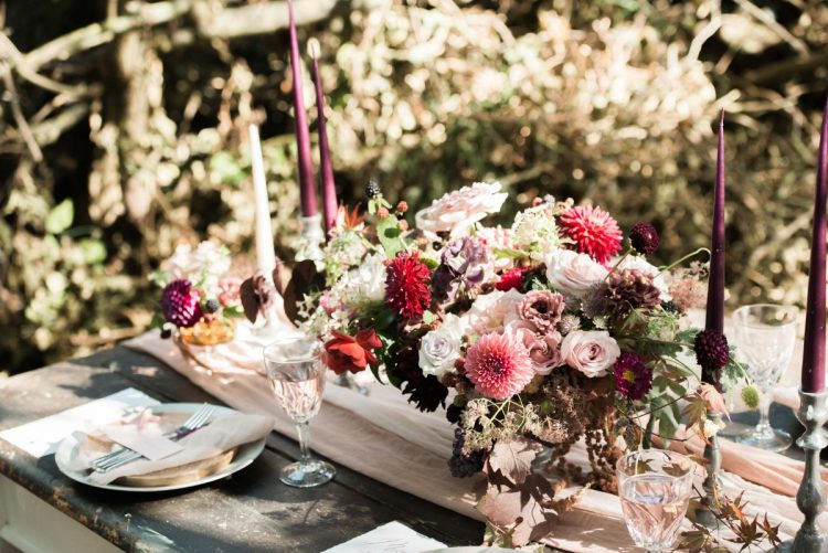 Romantic Autumn Wedding Ideas with Rich Palette and Rustic Luxe Feel