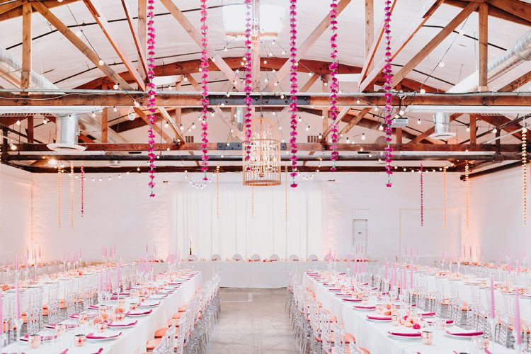 Marsella & Ryan's Pink Industrial Luxe Wedding