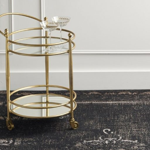 Jewel Glass and Brass Drinks Trolley by Ali&Co at Prezola wedding gift registry