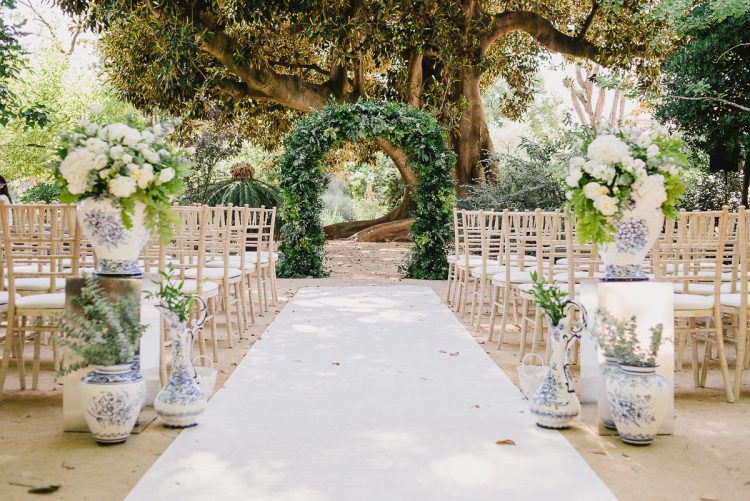 Elegant 18th Century Royal Botanical Garden Destination Wedding in Portugal