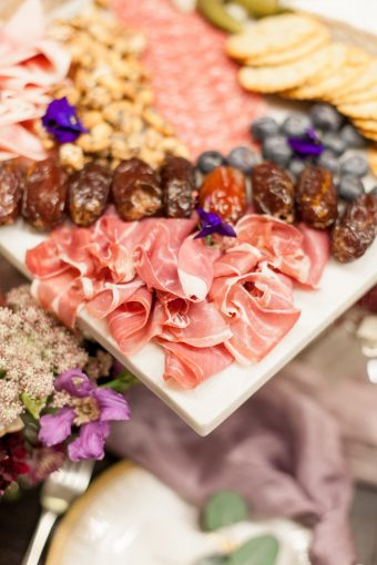 stylish grazing platters for events and weddings by The Curated Kitchen