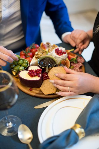 stylish grazing platter wedding trend by The Curated Kitchen