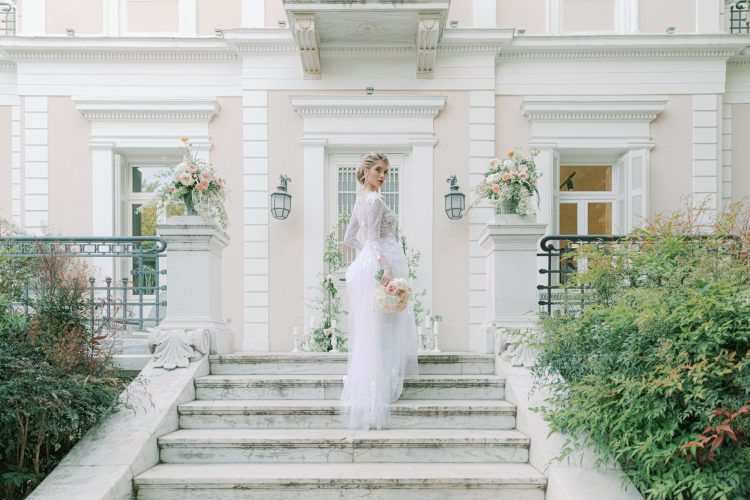 Elegant Mansion Wedding in Spring Colours