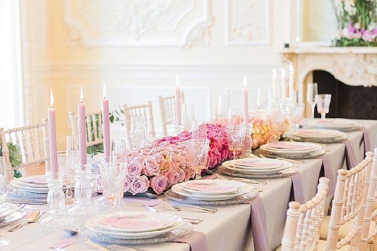 Romantic Pink Ombre City Wedding at 10-11 Carlton House Terrace