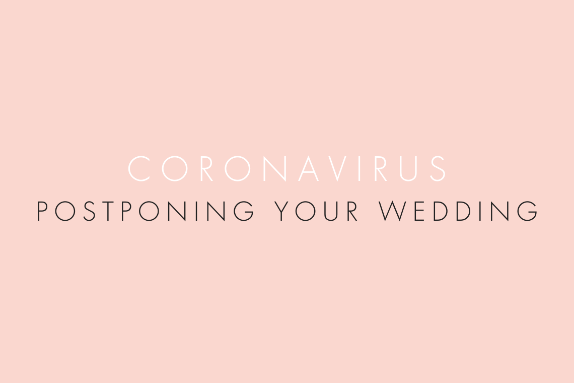 advice for postponing your wedding