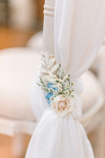 floral wedding chair details