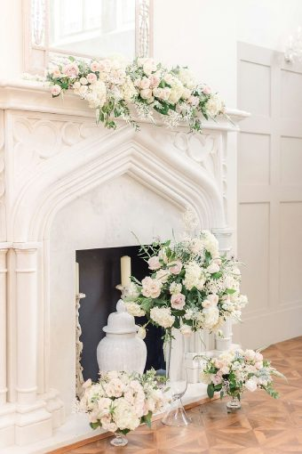 timeless romantic wedding ceremony flowers