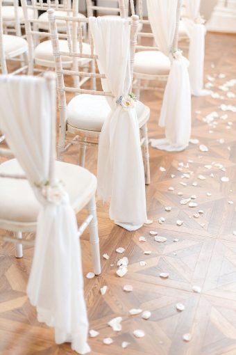 timeless romantic wedding ceremony chairs