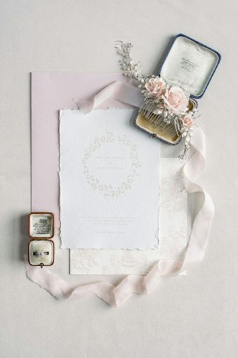 timeless romantic wedding invite