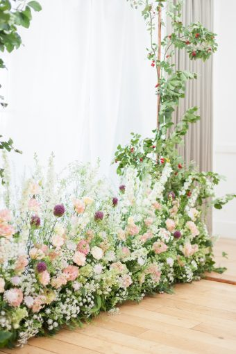wildflower floral ceremony arch