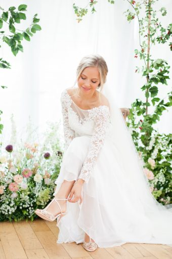 romantic wedding dress by Stelfox Bride