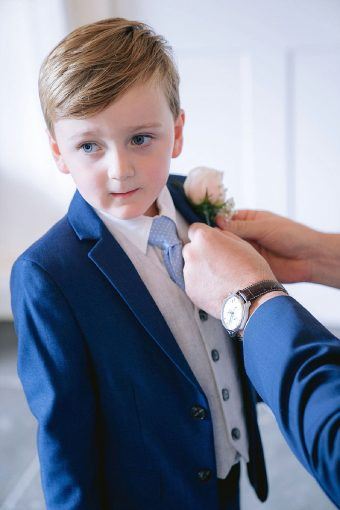 page boy navy suit