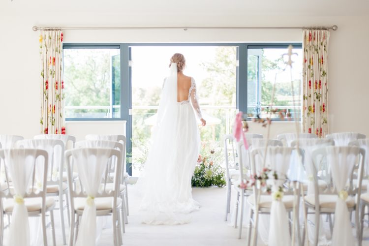 drawing room wedding ceremony manor hill house