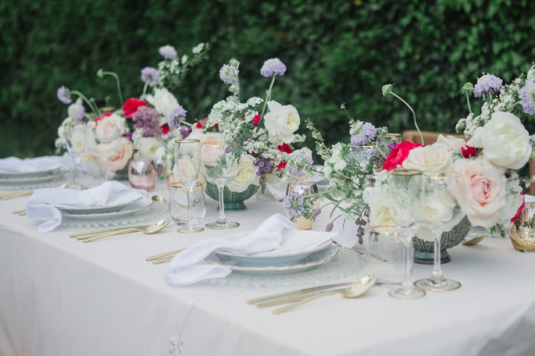 traditional tuscan wedding inspiration tablescape