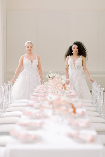 feminine spring bridal inspiration tablescape