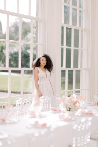 spring wedding table inspiration in an orangery